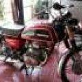 honda cb200 twin thn 1975 merah paper lengkap (platina)