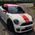 MINI COOPER S JCW COUPE Pepper White On Black 2013