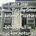 Hunian Ready Stock di.Kolonel Masturi DP 30jt tnp biaya Kpr,imb,bphtb., Bandung Kota, Bandung
