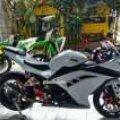 Kawasaki Ninja 250 Fi 2013, AB, Pajak BARU, Full Var, Part Asli ada