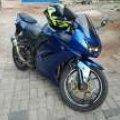 Kawasaki Ninja 250r karbu 2010 Biru BU!!!