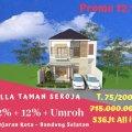 Rumah Kapling VillaTaman Seroja Bergaransi Untung 20 %, BUY BACK GUARANTEE, Banjaran, Bandung