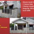 Rumah bekas 5 menit dari Jln. SM Raja ukuran tanah 15x15 Marindal