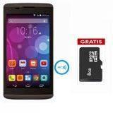 Accessgo 4E - Quadcore - 1GB RAM - Kitkat - NFC - Hitam + Free Microsd 8GB