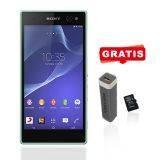 Sony Xperia C3 SM D2502 Dual SIM - Mint + Free Powerbank 2500 MAH + Micro SD 8gb Toshiba