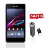Sony Xperia SM D2105 XP E1 Dual SIM - White + Free Powerbank 2500 MAH + Micro SD 8gb Toshiba