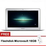 Apple MacBook Air MD712ID/B - 4GB RAM - Intel Dual Core i5 - Silver + Free Flashdisk MicroVault 16GB