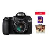 Canon EOS 60D KIT 18-55IS - 18MP - Hitam - Free SD 8GB + Eos Couple Bear