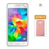 Samsung Grand Prime G530H - White + Bonus Soft Case Pink
