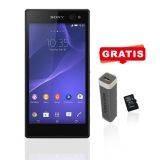 Sony Xperia C3 SM D2502 Dual SIM - Black + Free Powerbank 2500 MAH + Micro SD 8gb Toshiba