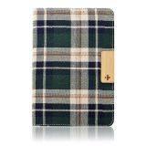 Simplism Smart Fabric Flip Check Green for iPad Mini Retina