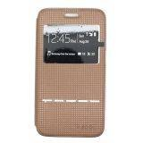 Ume Samsung Galaxy Core 2 G355H Flip Cover View Sense - Coklat