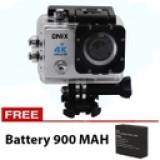 Onix Action Camera 4K Ultra HD Q3H - 16MP - WIFI - Putih + Gratis Battery 900 Mah