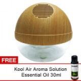 AIR PURIFIER Natural Wood with Blue LED & Ionizer