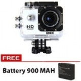 Onix Action Camera 1080p DV508C - 12MP - Putih + Gratis Battery 900 Mah