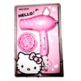 Hair Dryer Hello Kitty Pink Koleksi barang Unik karakter HK motif Kabel